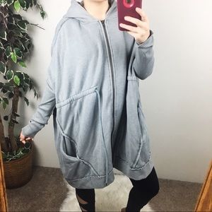 Free People oversized hooded jacket